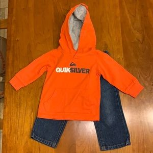 Toddler Quiksilver jeans and hoodie